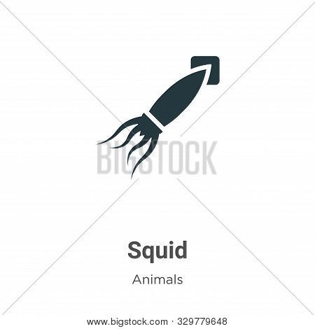 Squid icon isolated on white background from animals collection. Squid icon trendy and modern Squid