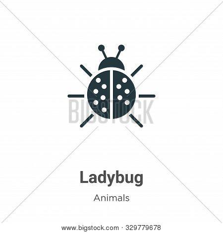 Ladybug icon isolated on white background from animals collection. Ladybug icon trendy and modern La