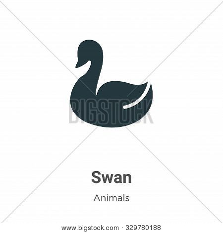 Swan icon isolated on white background from animals collection. Swan icon trendy and modern Swan sym