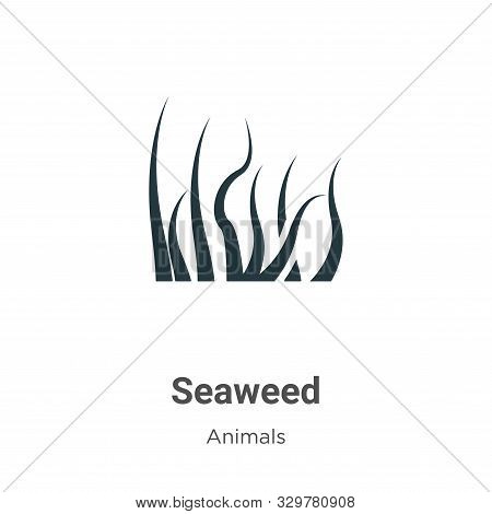 Seaweed icon isolated on white background from animals collection. Seaweed icon trendy and modern Se