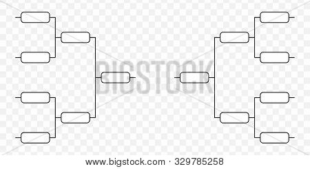 Team Tournament Bracket. Play Off Template . Template For Your Design
