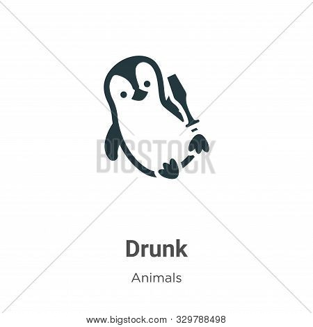 Drunk icon isolated on white background from animals collection. Drunk icon trendy and modern Drunk