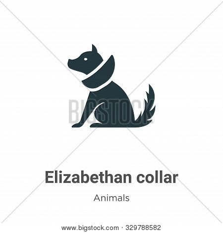 Elizabethan collar icon isolated on white background from animals collection. Elizabethan collar ico