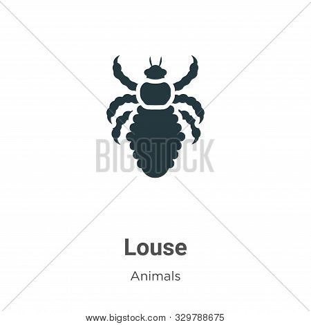 Louse icon isolated on white background from animals collection. Louse icon trendy and modern Louse