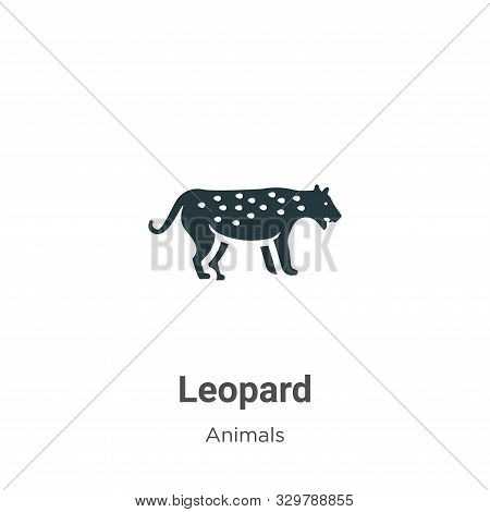 Leopard icon isolated on white background from animals collection. Leopard icon trendy and modern Le