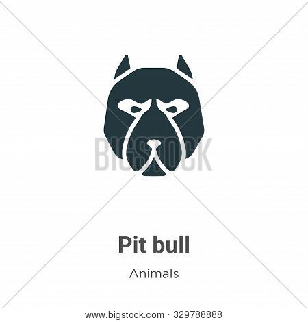 Pit bull icon isolated on white background from animals collection. Pit bull icon trendy and modern