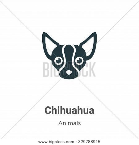 Chihuahua icon isolated on white background from animals collection. Chihuahua icon trendy and moder