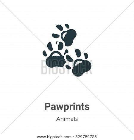 Pawprints icon isolated on white background from animals collection. Pawprints icon trendy and moder