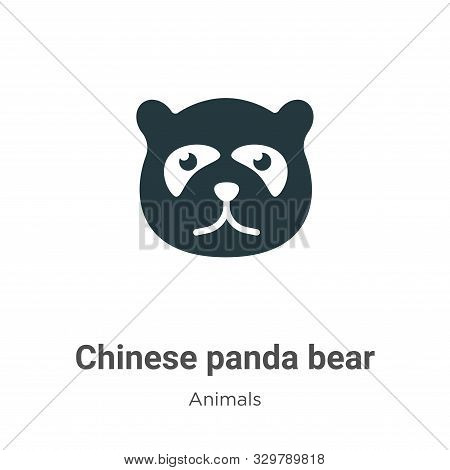Chinese panda bear icon isolated on white background from animals collection. Chinese panda bear ico