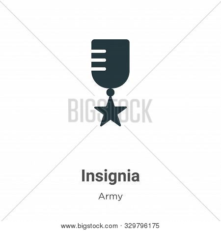 Insignia icon isolated on white background from army collection. Insignia icon trendy and modern Ins