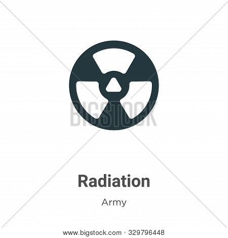 Radiation icon isolated on white background from army collection. Radiation icon trendy and modern R