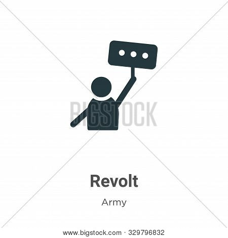 Revolt icon isolated on white background from army collection. Revolt icon trendy and modern Revolt