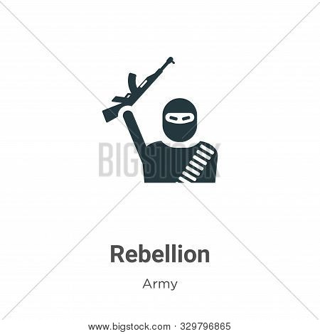 Rebellion icon isolated on white background from army collection. Rebellion icon trendy and modern R