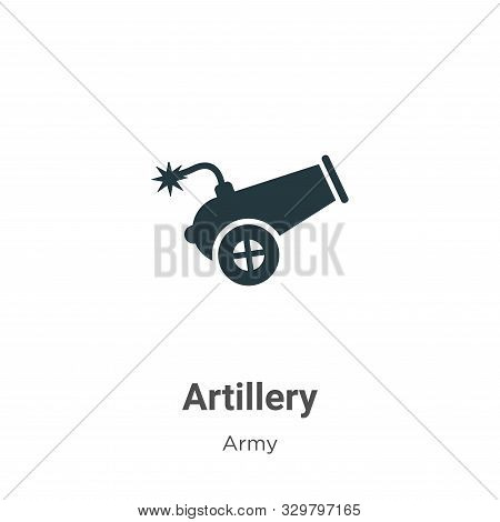 Artillery icon isolated on white background from army collection. Artillery icon trendy and modern A