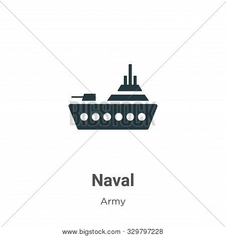 Naval icon isolated on white background from army collection. Naval icon trendy and modern Naval sym