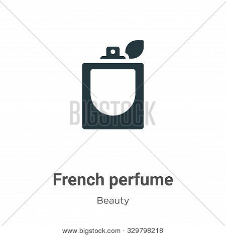 French perfume icon isolated on white background from beauty collection. French perfume icon trendy