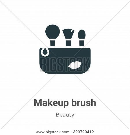 Makeup brush icon isolated on white background from beauty collection. Makeup brush icon trendy and