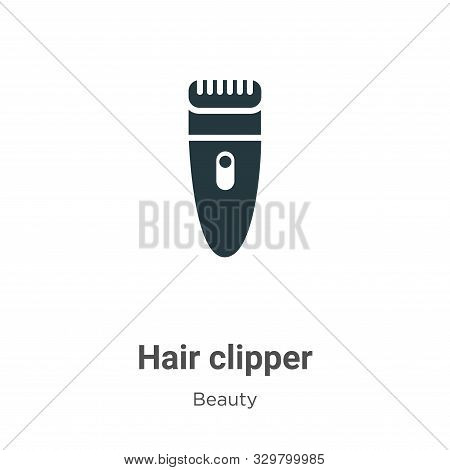 Hair Clipper Vector Icon On White Background. Flat Vector Hair Clipper Icon Symbol Sign From Modern