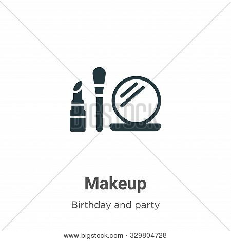 Makeup icon isolated on white background from birthday and party collection. Makeup icon trendy and