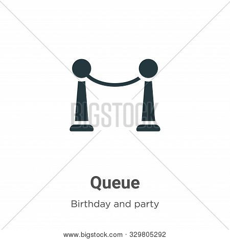 Queue icon isolated on white background from birthday and party collection. Queue icon trendy and mo