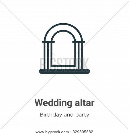 Wedding altar icon isolated on white background from birthday and party collection. Wedding altar ic