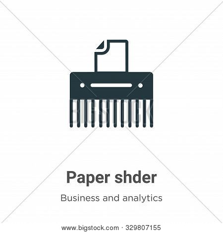 Paper shredder icon isolated on white background from business and analytics collection. Paper shred