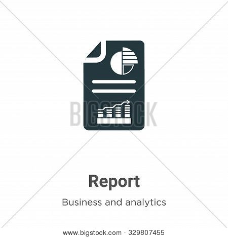 Report icon isolated on white background from business and analytics collection. Report icon trendy