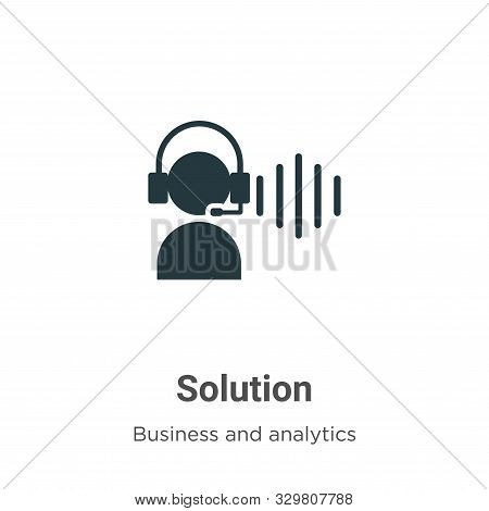 Solution icon isolated on white background from business and analytics collection. Solution icon tre