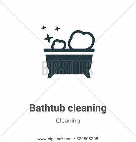 Bathtub cleaning icon isolated on white background from cleaning collection. Bathtub cleaning icon t