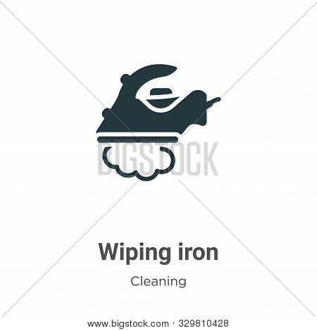 Wiping iron icon isolated on white background from cleaning collection. Wiping iron icon trendy and