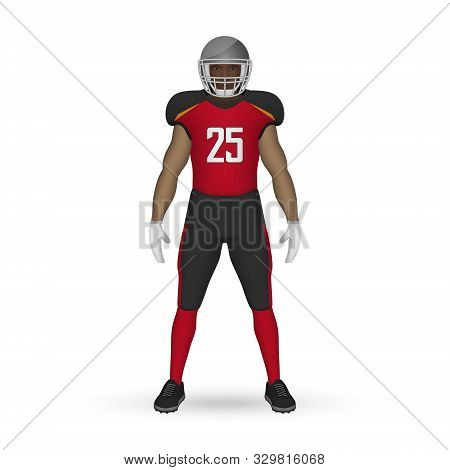 3d Realistic American Football Player, Team Kit Template Design Tampa Bay Buccaneers