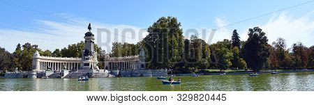 Monument A Alfonso Xii In The Gardens Of The Retiro Park In Madrid. Spain. Europe. September 18, 201