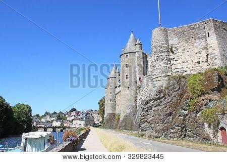 Josselin Castle By The River Oust, France