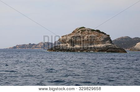 Rocks On The Mediterranean Sea Without Boats And Nobody