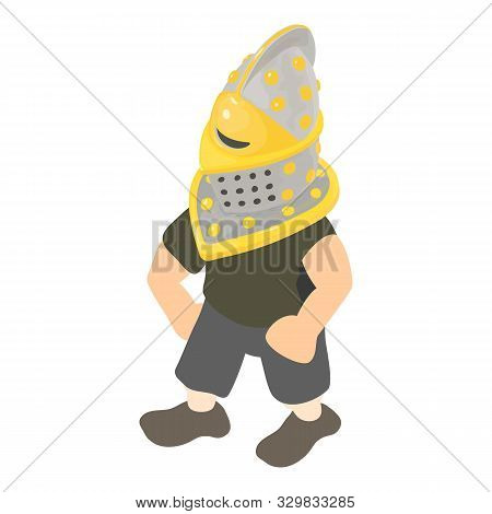 Medieval Knight Icon. Isometric Illustration Of Medieval Knight Vector Icon For Web