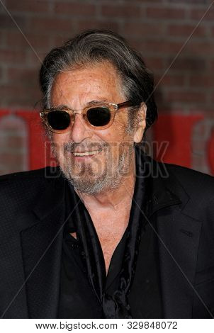 Al Pacino at the Los Angeles premiere of 'The Irishman' held at the TCL Chinese Theatre in Hollywood, USA on October 24, 2019.
