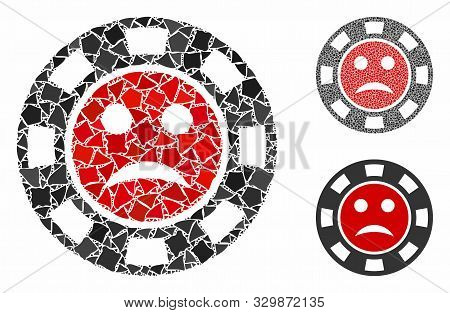 Pity Casino Chip Composition Of Rugged Elements In Different Sizes And Color Tinges, Based On Pity C