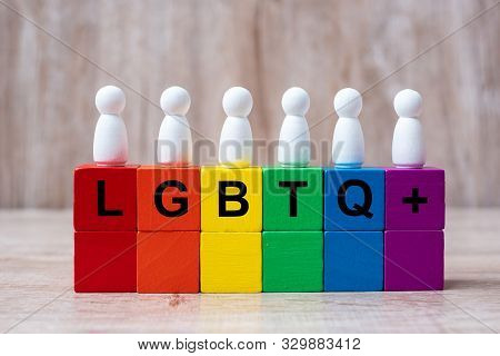 Lgbtq+ Rainbow Color Blocks, For Lesbian, Gay, Bisexual, Transgender And Queer Community