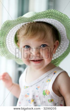 Baby-Girl In A Hat