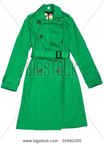 Green Women's Raincoat