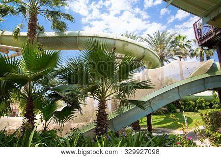 Dubai, Uae, United Arab Emirates - 28 May, 2019: Atlantis Adventure Park View