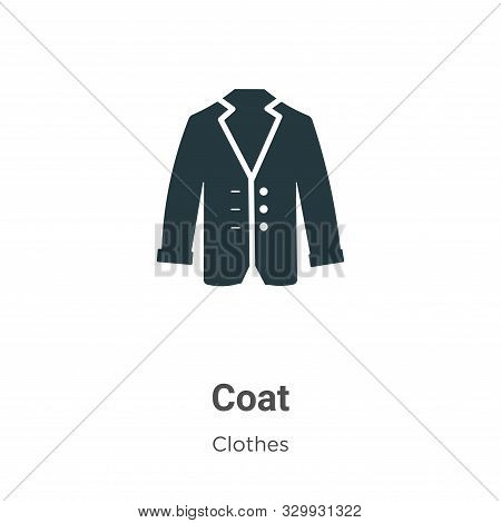 Coat icon isolated on white background from clothes collection. Coat icon trendy and modern Coat sym