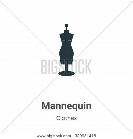 Mannequin icon isolated on white background from clothes collection. Mannequin icon trendy and moder