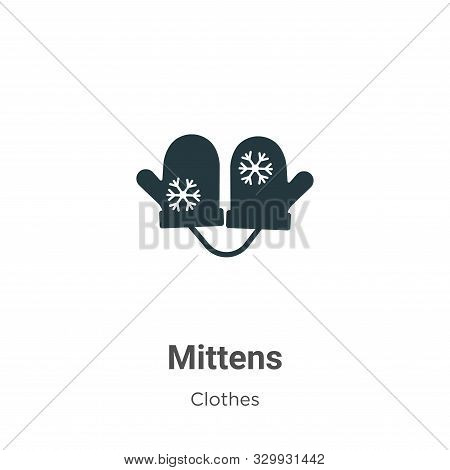 Mittens icon isolated on white background from clothes collection. Mittens icon trendy and modern Mi
