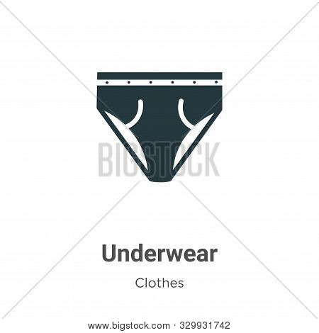 Underwear icon isolated on white background from clothes collection. Underwear icon trendy and moder