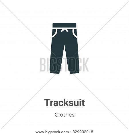 Tracksuit icon isolated on white background from clothes collection. Tracksuit icon trendy and moder