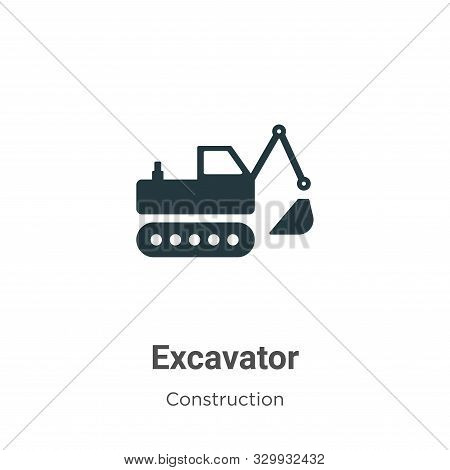 Excavator icon isolated on white background from construction collection. Excavator icon trendy and