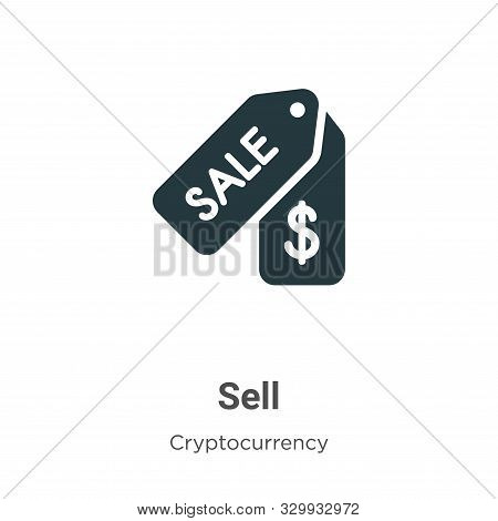 Sell icon isolated on white background from cryptocurrency collection. Sell icon trendy and modern S