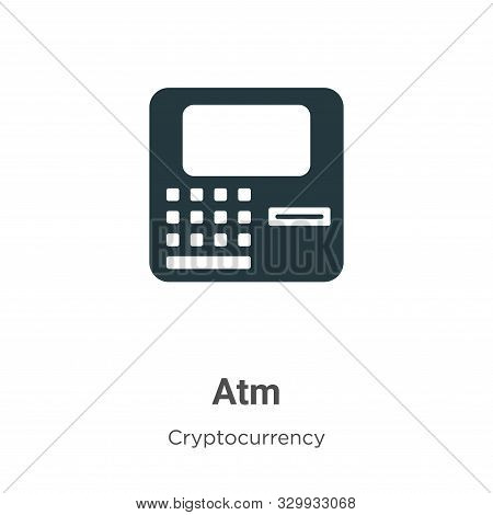 Atm icon isolated on white background from cryptocurrency collection. Atm icon trendy and modern Atm