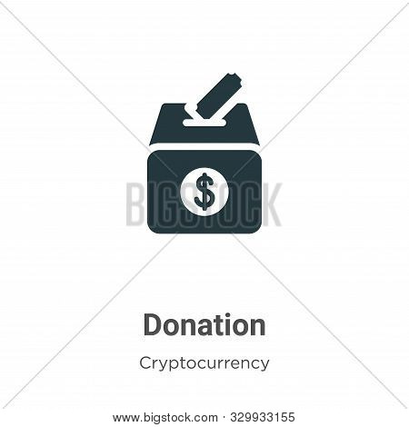Donation icon isolated on white background from cryptocurrency collection. Donation icon trendy and